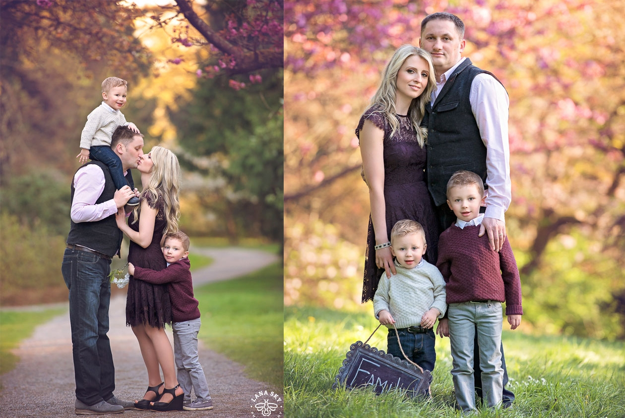 A fall family portrait